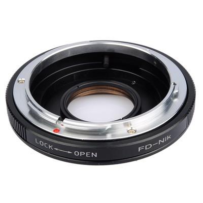 B.I.G. Objektivadapter m. Linse Canon FD an Nikon