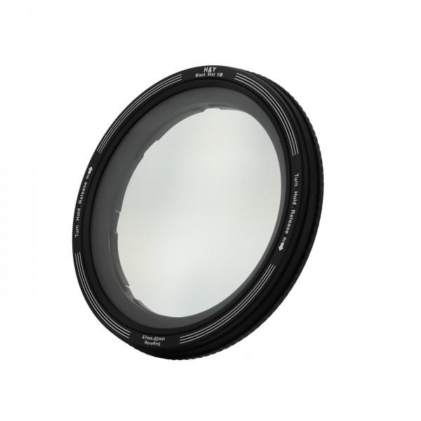 H&Y REVORING 67-82mm Black Mist 1/8 Filter