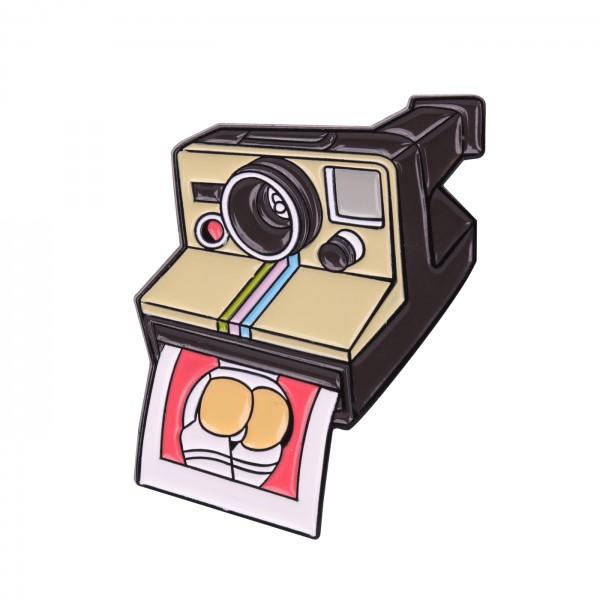 B.I.G. Anstecknadel Pin - Sofortbildkamera
