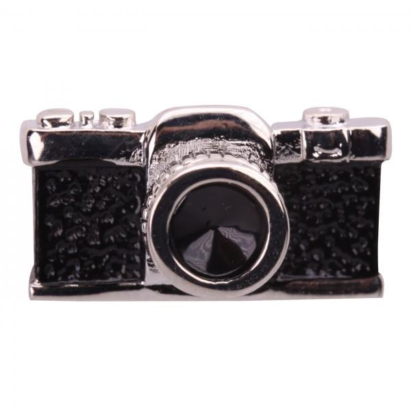 B.I.G. Anstecknadel Pin - Kamera 3D schwarz/silber