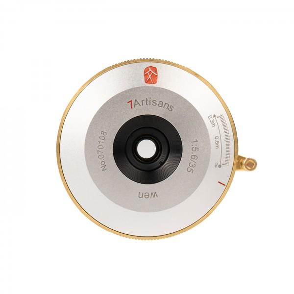 7Artisans 35mm f/5,6 WEN Pancake Leica M silber