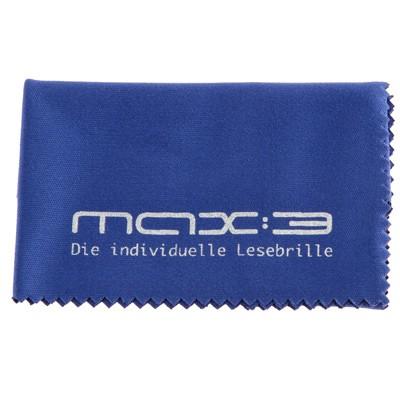 max:3 Microfaser-Brillenputztuch