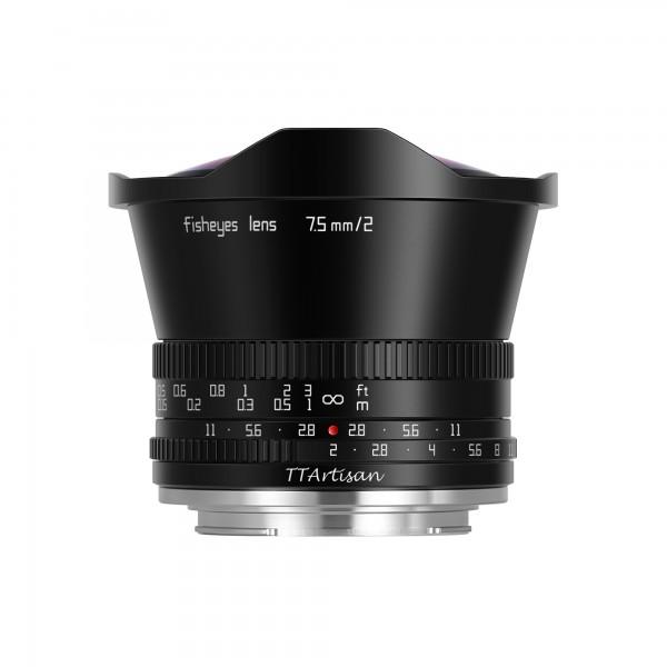 TTArtisan 7,5mm f/2,0 Fisheye für Nikon Z (APS-C)