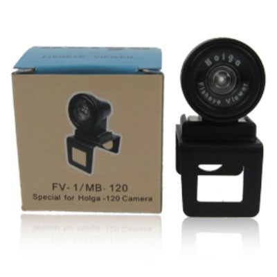 Holga Fisheye-Halter und Sucheraufsatz FV-1/MB120