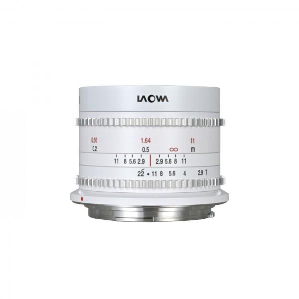 LAOWA 9mm T2.9 Zero-D Cine für Canon RF, weiß
