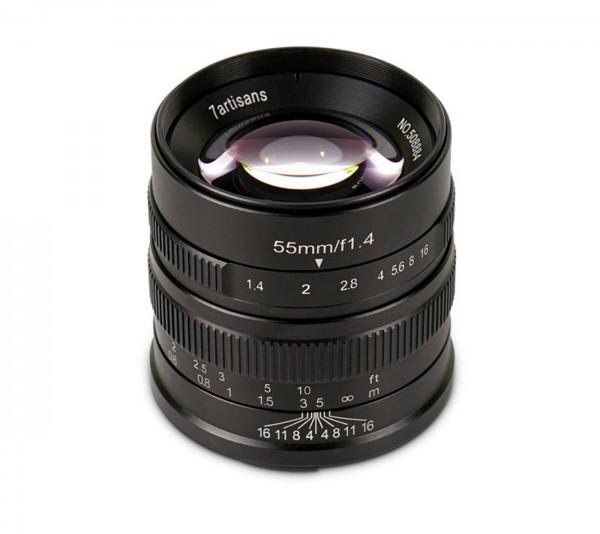 7Artisans 55mm f/1,4 für Sony E (APS-C)