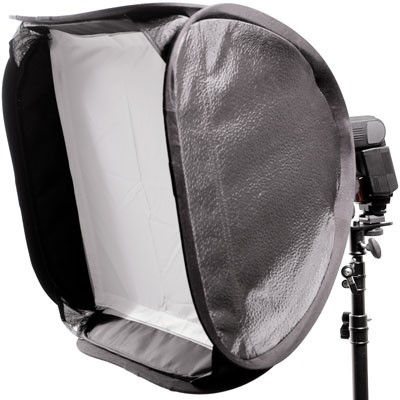 HELIOS Magic Square Softbox 40x40 für Kompaktblitz