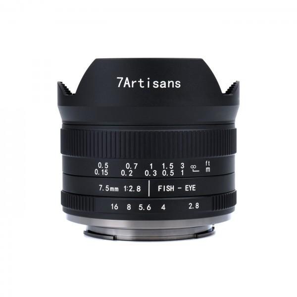 7Artisans 7,5mm f/2,8 II Fisheye für MFT