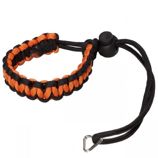 kalahari loop! Handschlaufe, schwarz/orange