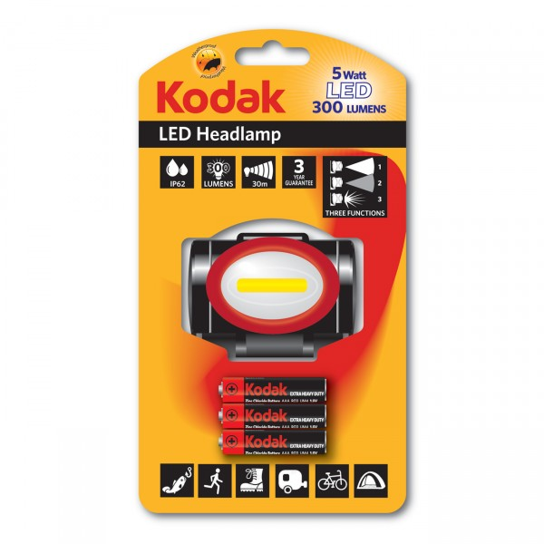 KODAK LED Stirnlampe 5W/300Lm
