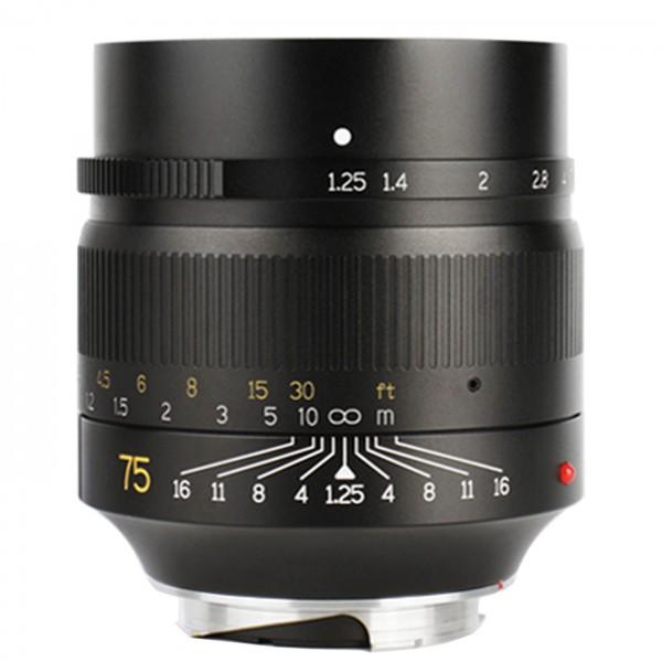 7Artisans 75mm f/1,25 für Leica M